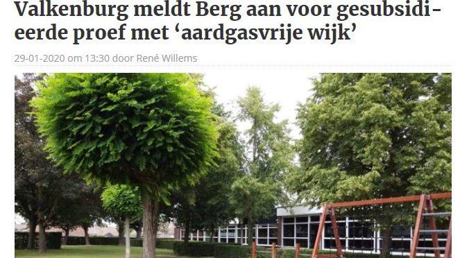 In de media: Wordt Berg aardgasvrij?